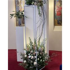 Floor Standing Pedestal Frame - 180cm - WHITE - HIRE