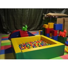 LARGE square soft ball pit