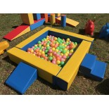 SMALL soft square ball pit