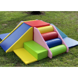 SMALL pink and blue playground set